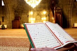 Reading-Quran-In-Mosque